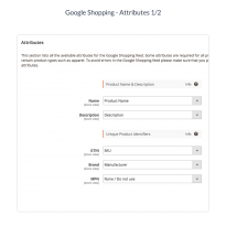 Map your default product attributes for the Google XML.